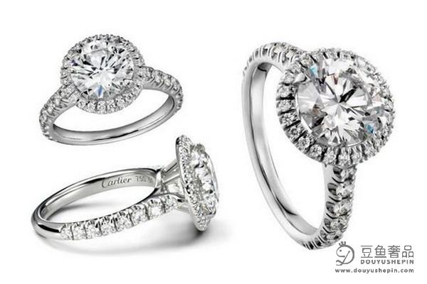 豆鱼奢品回收告诉你钻石戒指设置适合铂金或18K金